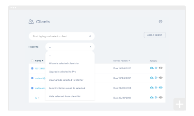 How to use bulk actions on your client list
