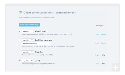 How to configure automatic client communications