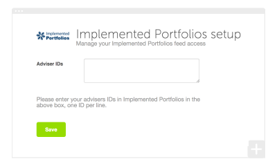How to set up your Implemented Portfolios integration
